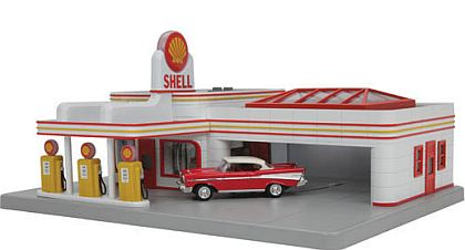 SHELL Service Station • operational Diorama • #MTH-30-9182