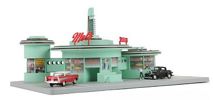 Mel's Drive-In Diner • operational Diorama • #MTH-30-9188