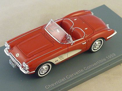 1959 Corvette Roman Red Convertible • Top down version • #NEO45995