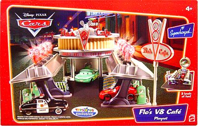 Pixar CARS Flo's V8 Cafe playset, item #L9836