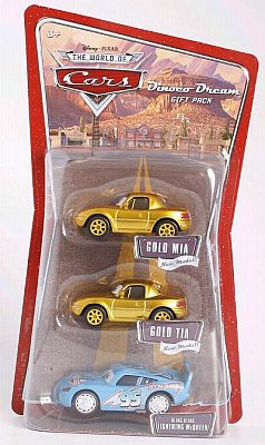 Gold Mia & Gold Tia & Bling Bling McQueen, Dinoco Dream Gift pack, Item #M1886