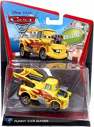 FUNNY CAR MATER • Deluxe #12 • CARS 2 • #V2853