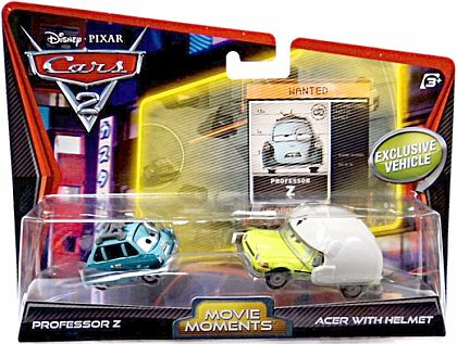 PROFESSOR Z & ACER WITH HELMET • 2-Pack • CARS 2 • #W6705