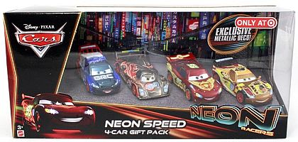 NEON SPEED Racers 4-Car Gift Pack • Disney/PIXAR CARS • #CBG08