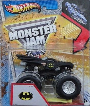 MONSTER JAM BATMOBILE • Includes Crashable Car & #HW-X2790