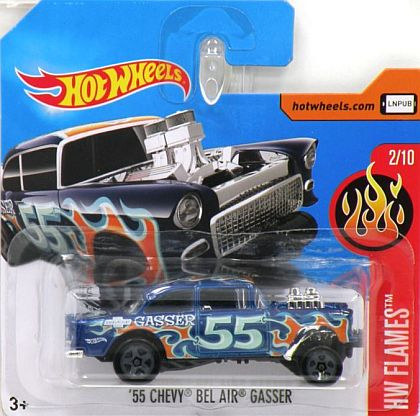 1955 Chevy Bel Air Gasser #55 • HW Flames 2017 • #HW-DVB74