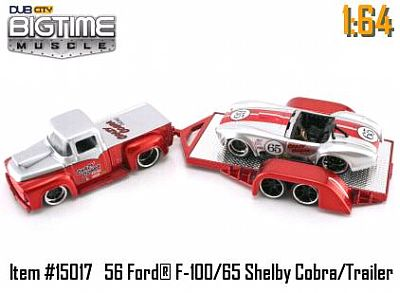 Item #JT15017 Shelby race Cobra with Ford Pickup and trailer