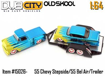 Bel-Air and Chevrolet Pickup truck race set item #JT15026