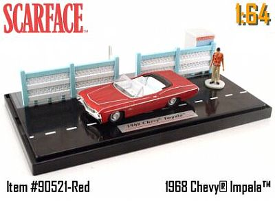 Item #JT90521-2 SCARFACE diorama with Chevrolett Impala