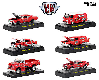 EDELBROCk 80 Years • 6 different 1/64 scale Model Cars by M2 • #M2-WMTS12