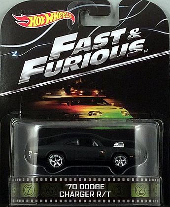 FAST & FURIOUS 1970 Dodge Charger R/T • • Hot Wheels • #HW-BDT95