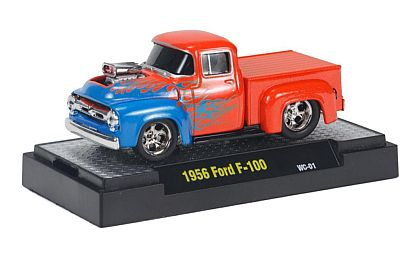 1956 Ford F-100 Truck • Metallic Orange with Cyanide Blue Flames • #M2-82161WC01-2