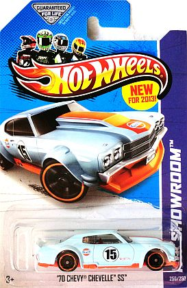 '70 Chevy Chevelle Gulf #15 • HW SHOWROOM • Track Aces • #HW-X1623
