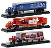 Ford Truck & COBRA Box Trailer • Dodge Truck & Car Carrier & 1957 Chrysler 300C • Chevrolet Truck & Short Trailer &qmp; 1969 Pontiac GTO Judge • #M2-36000-05set