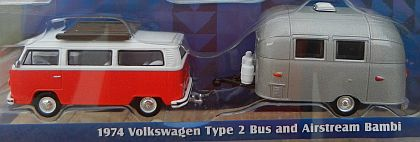 Hitch & Tow • VW Volkswagen Bus T2 with 16' Airstream Bambi Camper • #GL51035-C