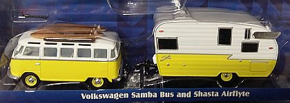 Hitch & Tow • VW Volkswagen Samba Bus  with 15' Shasta Airflyte Camper • #GL51035-D
