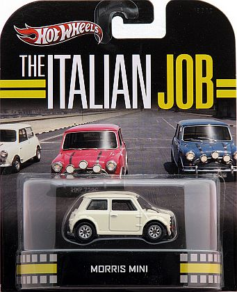 Morris Mini white • The Italian Job • HW Retro Entertainment • #HW-X8905