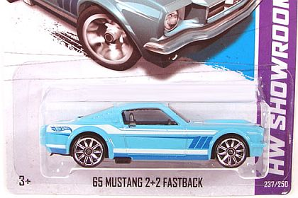 1965 Mustang Fastback • Hot Wheels SHOWROOM • HW#X1998