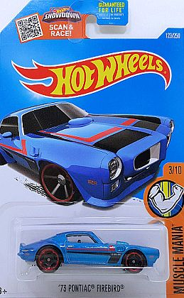 1973 Pontiac Firebird Tans Am • Hot Wheels MUSCLE MANIA • #HW-DHR34
