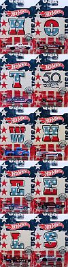 Hot Wheels STARS & STRIPES 50th Anniversary • Completet set of 10 • #HW-FKV70