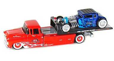 Elite Transport - Chevy Flatbed with chopped Ford Model A Hot Rod - #MAI15055-105