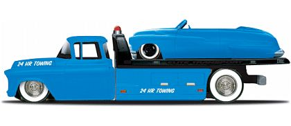 Elite Transport - Chevy Flatbed with Mercury Convertible - Maisto - #15055-13