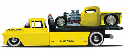 Elite Transport - Chevy Flatbed with Chopped Chevy Pickup - Maisto - #15055-14