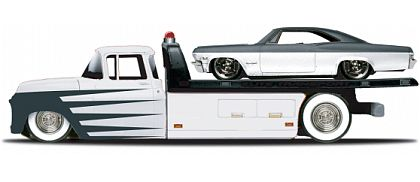 Elite Transport - Chevy Flatbed with Chevy Impala SS - Maisto - #15055-15