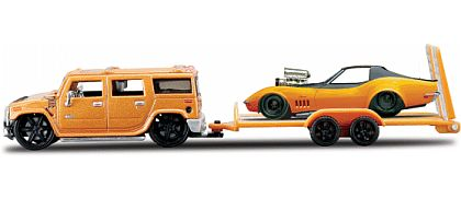 Elite Transport - Hummer H2 with Blown 1969 Corvette Coupe - Maisto - #15055-16