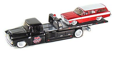 Elite Transport - Chevy Flatbed with Chevrolet Biscayne Wagon - #MAI15055-203