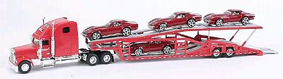 Item #SC-36561C3 Auto-Transporter with 4 Corvette C3 coupe loaded