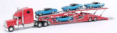 Item #SC-36561B Auto-Transporter with 4 Plymouth 1970 Barracuda loaded