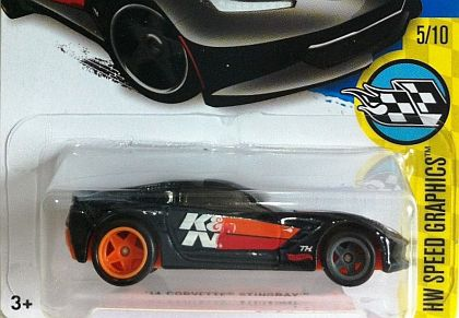 C7 Corvette Stingray K&N • Treasure Hunt • #HW-DHR76-TH