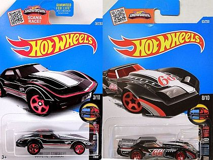 '76 Greenwood Corvette #68 & Corvette Stingray • HW MILD TO WILD set • #HW-DHX3435-Set
