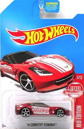 2014 Corvette Stingray Coupe • Red Edition • Target exclusive • #HW-FBH95