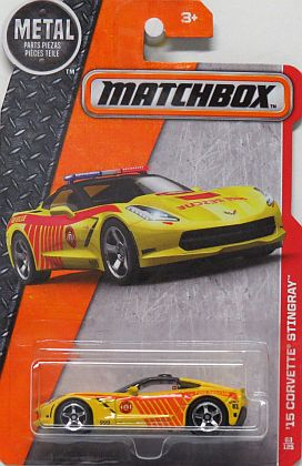 '15 Corvette Stingray coupe • Yellow • Matchbox Heroic Rescue • #MB-DJX28