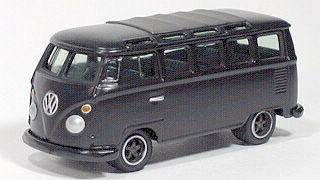 1966 VW Samba Bus - Flat Black - Samba Bulli - Item #JL50248
