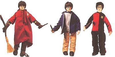 Harry Potter, Hermione Granger, Ron Weasely 12-inch action figures