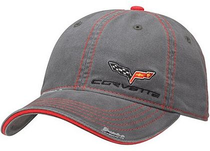 C6 Corvette Washed Twill Cap • #C20172c6