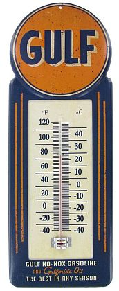 Gulf Oil Thermometer • Celcius and Fahrenheit • #HL339010