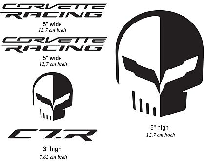 Corvette Racing/Jake Decal Pack • Black • #D203BLK