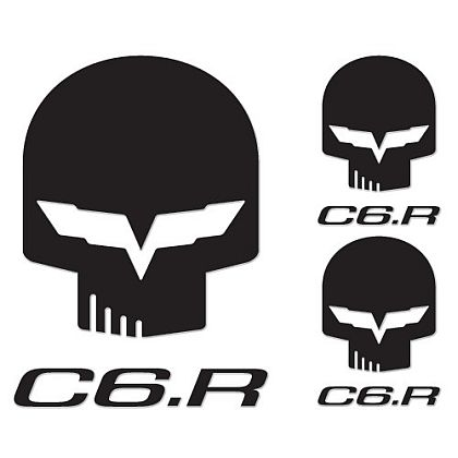 JAKE & C6.R Reflective Decal Pack • Black