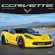 Corvette 2019 12x12 Inch Monthly Square Wall Calendar with Foil Stamped Cover by Plato, Chevrolet Motor Muscle Car