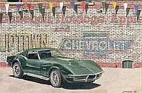 Baseball, HotDogs, 1969 Corvette Coupe, Item #DF25039