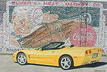 Elmer's Meat Market, 2000 Corvette Convertible, Item #DF25048