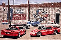 Five Generations, Corvette C1 to C5, Item #DF25030