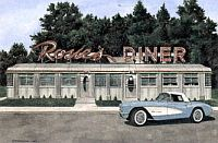 Rosie's Diner, 1957 Corvette Convertible, Item #DF25036