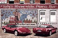 The Ruby Twins, 1993 40th Anniversary Corvette, Item #DF25019