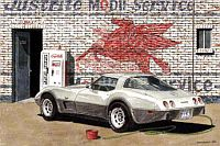 Saturday Mornig Wash, 1978 Silver Anniversary Corvette, Item #DF25013