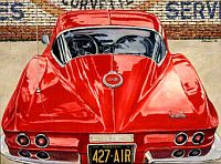 Sting Ray Reflections, 1967 Corvette Coupe, Item #DF25010